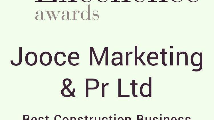 Jooce Marketing & PR Wins Business Excellence Award – Best Construction Business Development Consultancy 2020